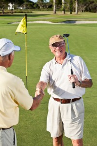 Patients playing golf after recovering from a radical prostatectomy