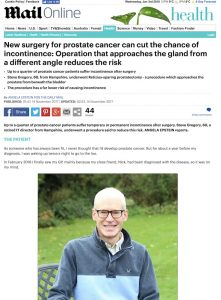 Daily Mail article - Angela Epstein - Rezius-sparing robotic radical prostatectomy