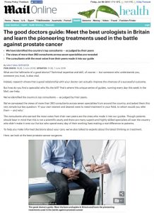 Daily Mail Good Doctors Guide: meet the best prostate cancer surgeons in Britain