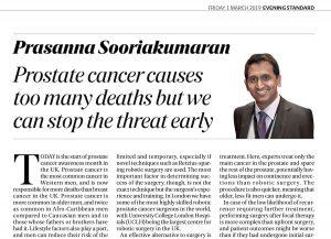 Prasanna Sooriakumaran - Evening Standard article - March 2019